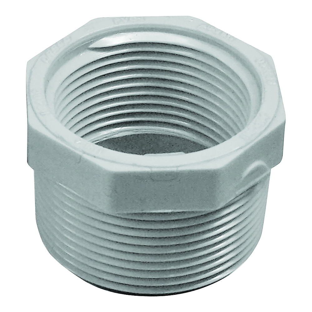 Picture of GENOVA 300 Series 34354 Pipe Reducing Bushing, 1-1/2 x 1-1/4 in, MIP x FIP, White, SCH 40 Schedule