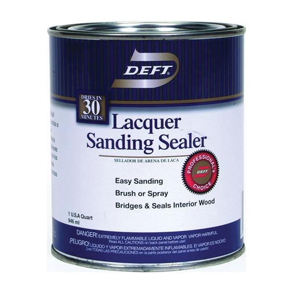 Picture of DEFT 015-04 Sanding Sealer, Clear, Liquid, 1 qt, Can