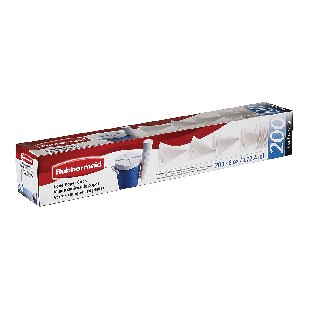 Picture of Rubbermaid FG2B4112WHT Paper Cups, Disposable, Paper, White, For: Rubbermaid 8275 Cup Dispensers