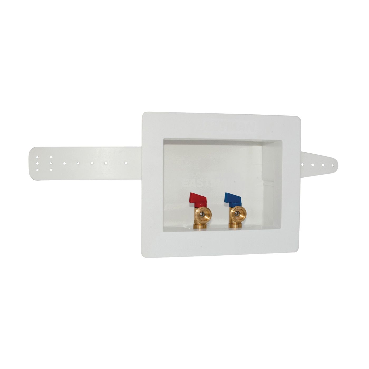 Picture of EASTMAN 60244/38937 Washing Machine Outlet Box with Valve, 1/2, 3/4 in Connection, Brass/Polystyrene