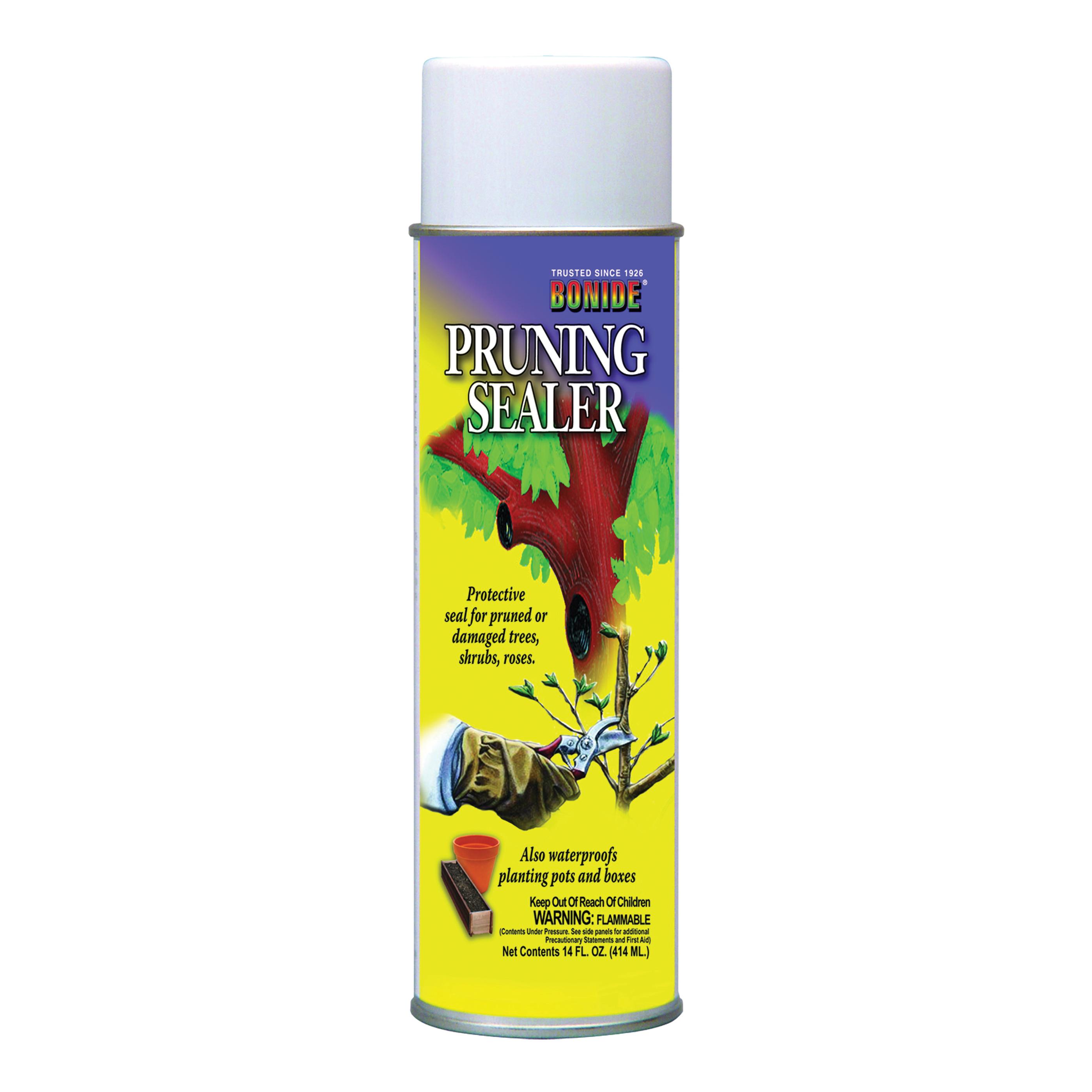 Picture of Bonide 221 Pruning Sealer, Liquid, Petroleum Solvent, Black, 14 oz Package, Aerosol Can