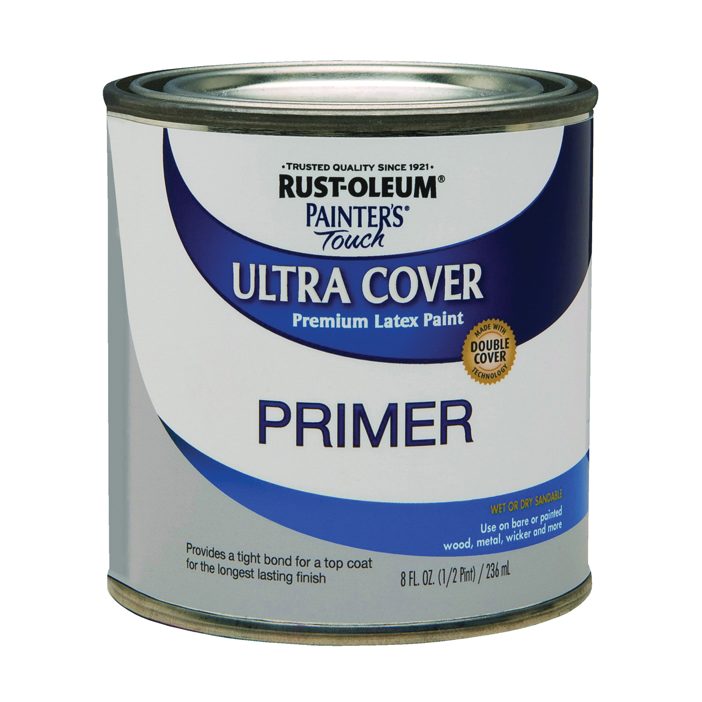 Picture of RUST-OLEUM PAINTER'S Touch 1980730 Exterior Primer, Flat, Gray, 0.5 pt, Can