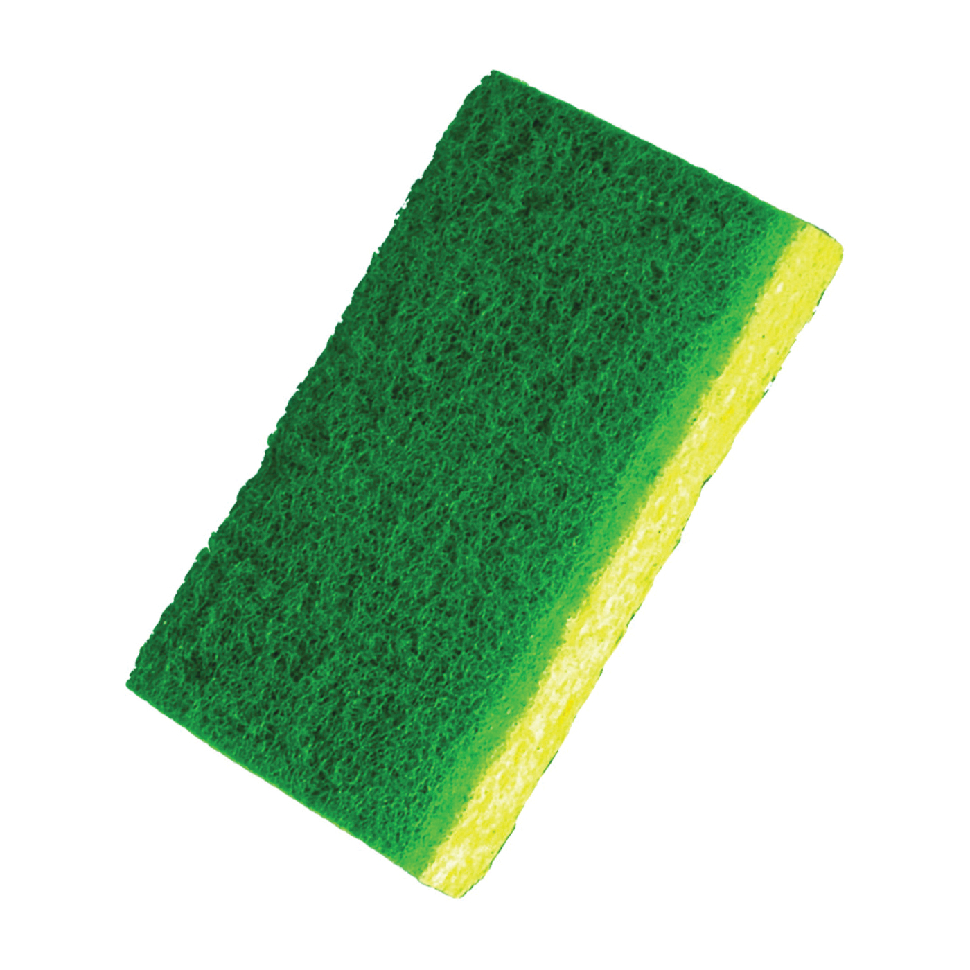 Picture of BIRDWELL 369-48 Scouring Pad, 4-1/2 in L, 2-7/8 in W, Green/Yellow