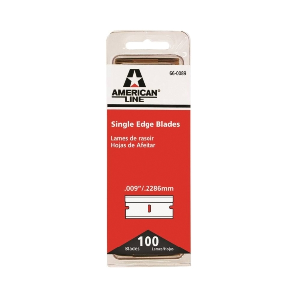 Picture of American LINE 66-0089-DIS Single Edge Blade, Two-Facet Blade, 3/4 in W Blade, HCS Blade