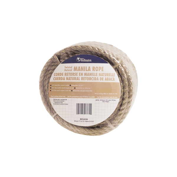 Picture of T.W. Evans Cordage 30-003 Rope, 3/8 in Dia, 600 ft L, Manila, Natural, Carton