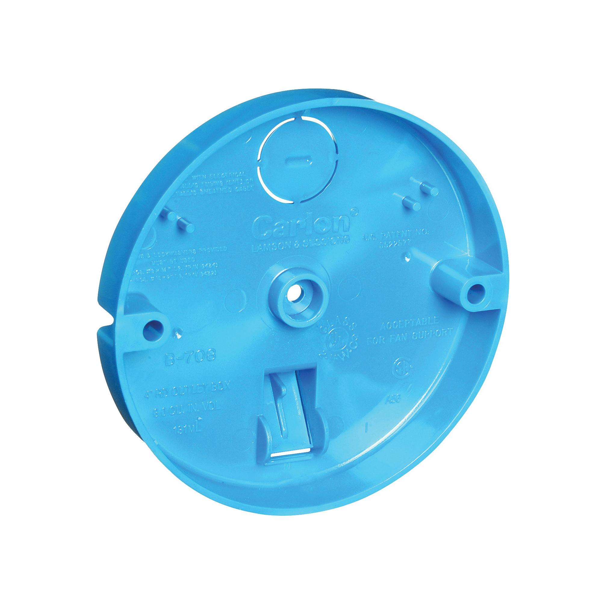 Picture of Carlon B708-SHK Ceiling Pan Box, 1/2 in L, PVC, Blue