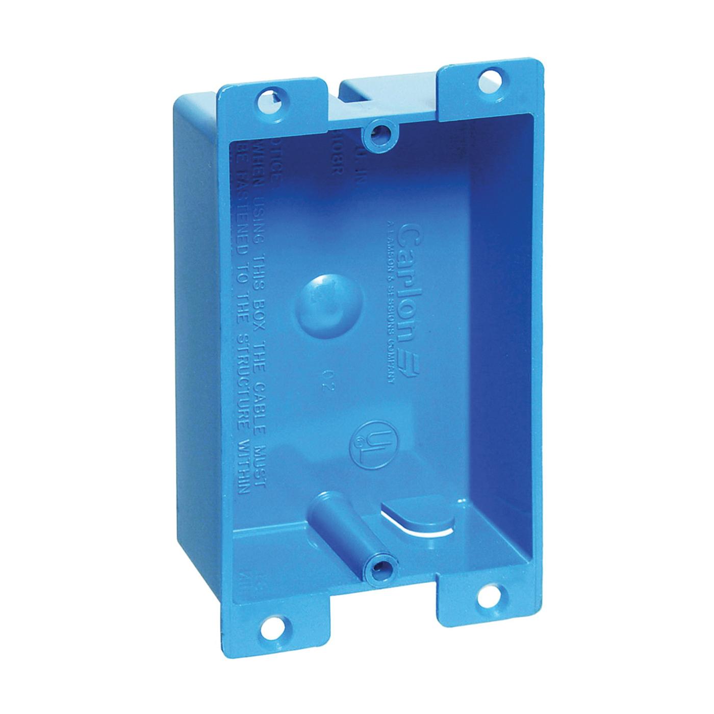 Picture of Carlon B108R-UPC Outlet Box, 1-Gang, PVC, Blue