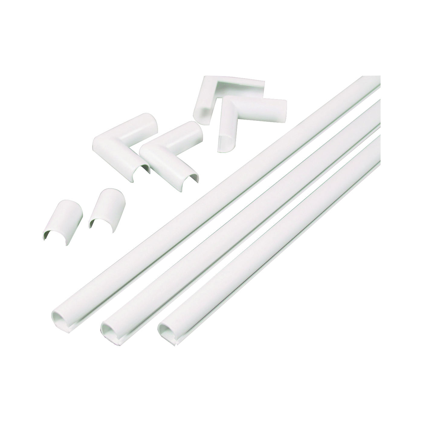 Picture of Legrand Wiremold C110 Cord Channel Kit, PVC, White