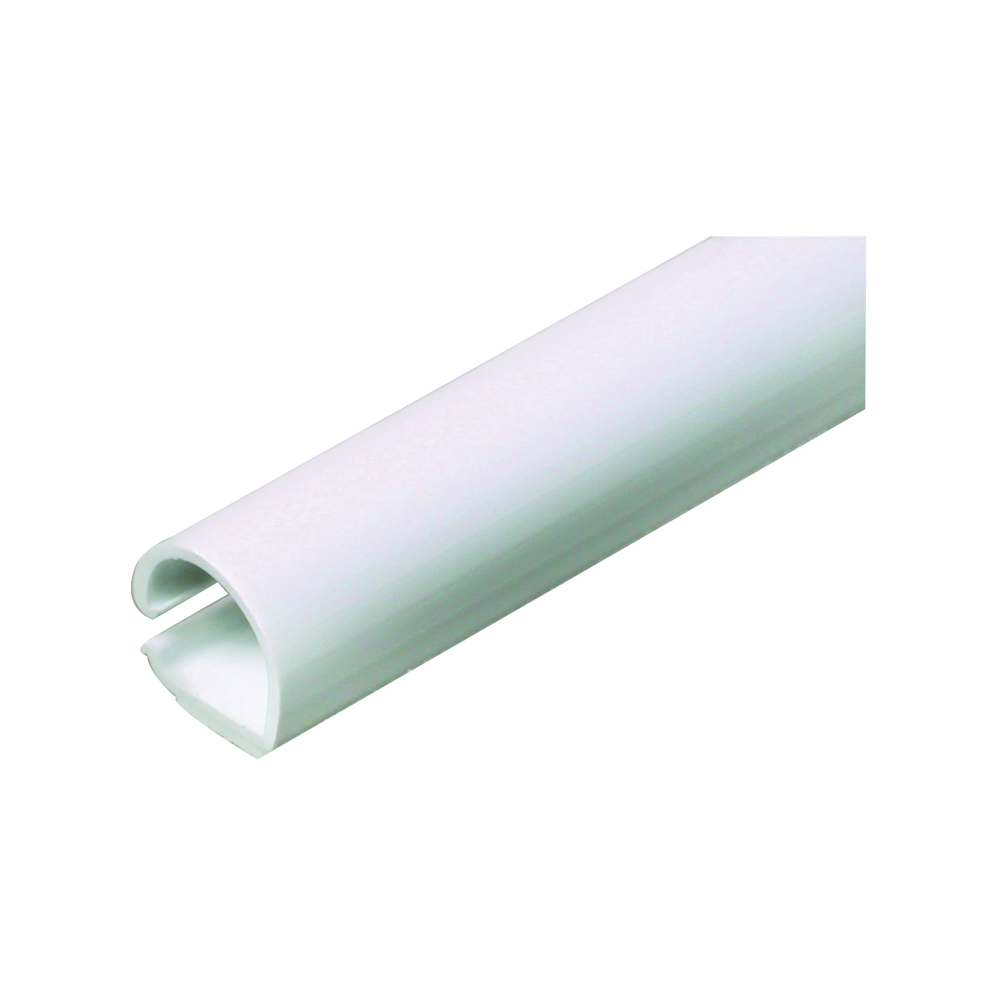 Picture of Legrand Wiremold CordMate C10 Cord Channel, 60 in L, 3/8 in W, 1-Channel, Plastic, White