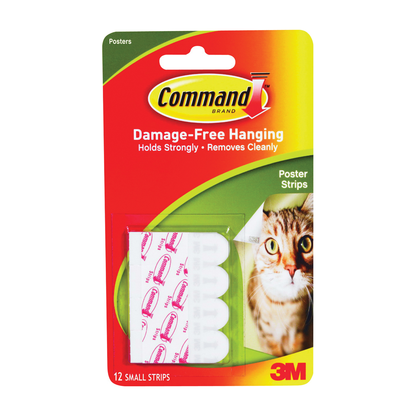 Picture of Command 17024 Poster Strip, 5/8 in W, 13/16 in L, Clear