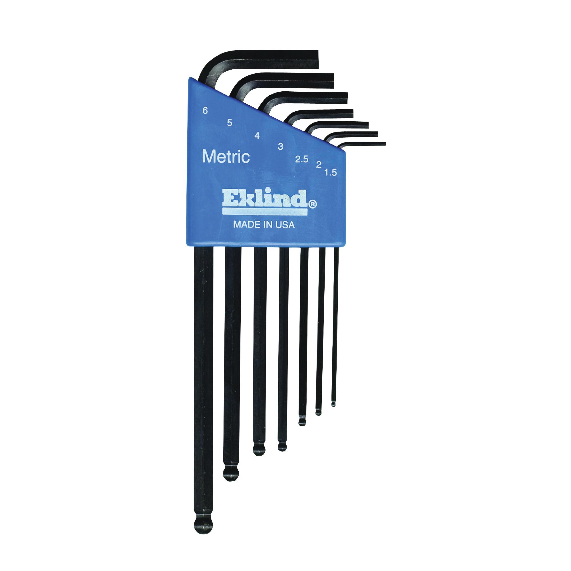 Picture of Eklind 13607 Hex Key Set, 7 -Piece, Steel, Black