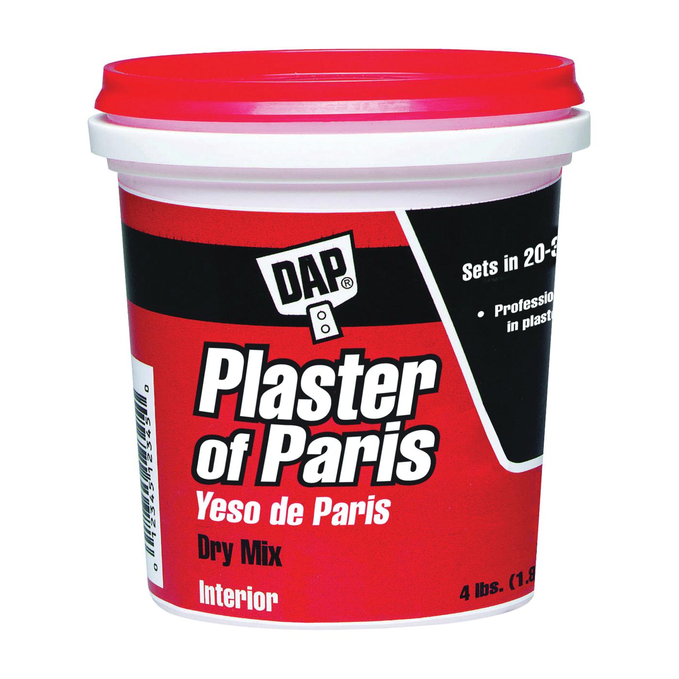 Picture of DAP 10308 Plaster of Paris, Powder, White, 4 lb Package, Tub