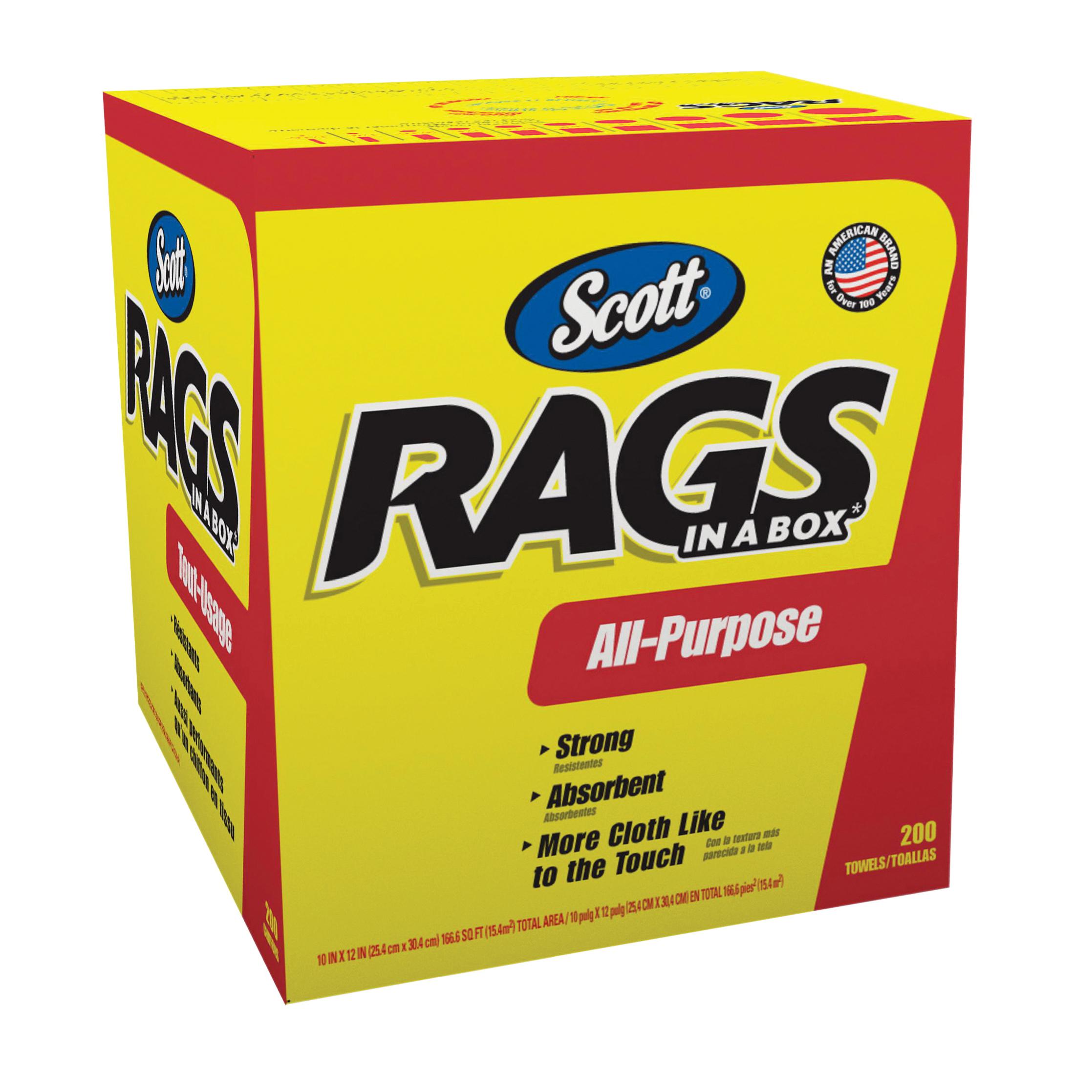 Picture of Scotts 75260 Painter's Rag, 10 x 12 in, Cellulose Fiber, White, Box