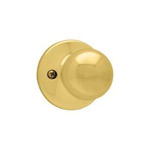Picture of Kwikset 488P 3 Dummy Door Knob, 1-7/8 in Dia Knob, Polished Brass