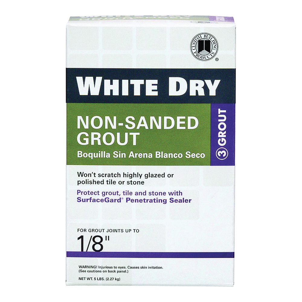 Picture of CUSTOM WDG5-4 Non-Sanded Grout, Powder, Characteristic, White, 5 lb Package, Box