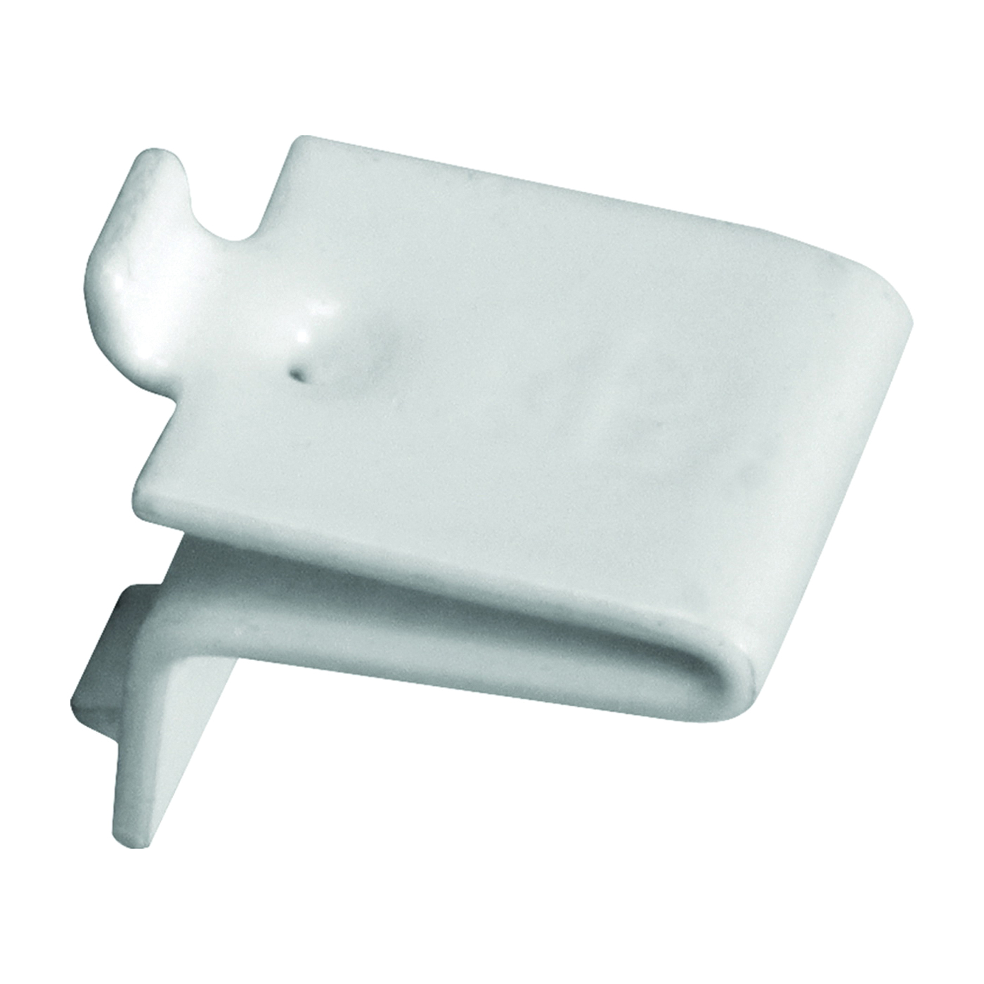 Picture of Knape & Vogt 256S WH Pilaster Shelf Support Clip, Adjustable, Steel, White, 100, Mortise Mounting