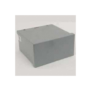 Picture of Wiegmann RSC080804RC Screw Cover, 1-Gang, Carbon Steel, Gray, Polyester Powder-Coated, Wall Mounting