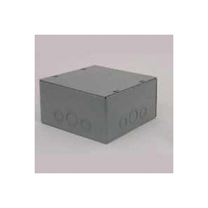 Picture of RACO SC080804RC Pull Box Enclosure, 1-Gang, Steel, Enamel-Coated, Surface Mounting