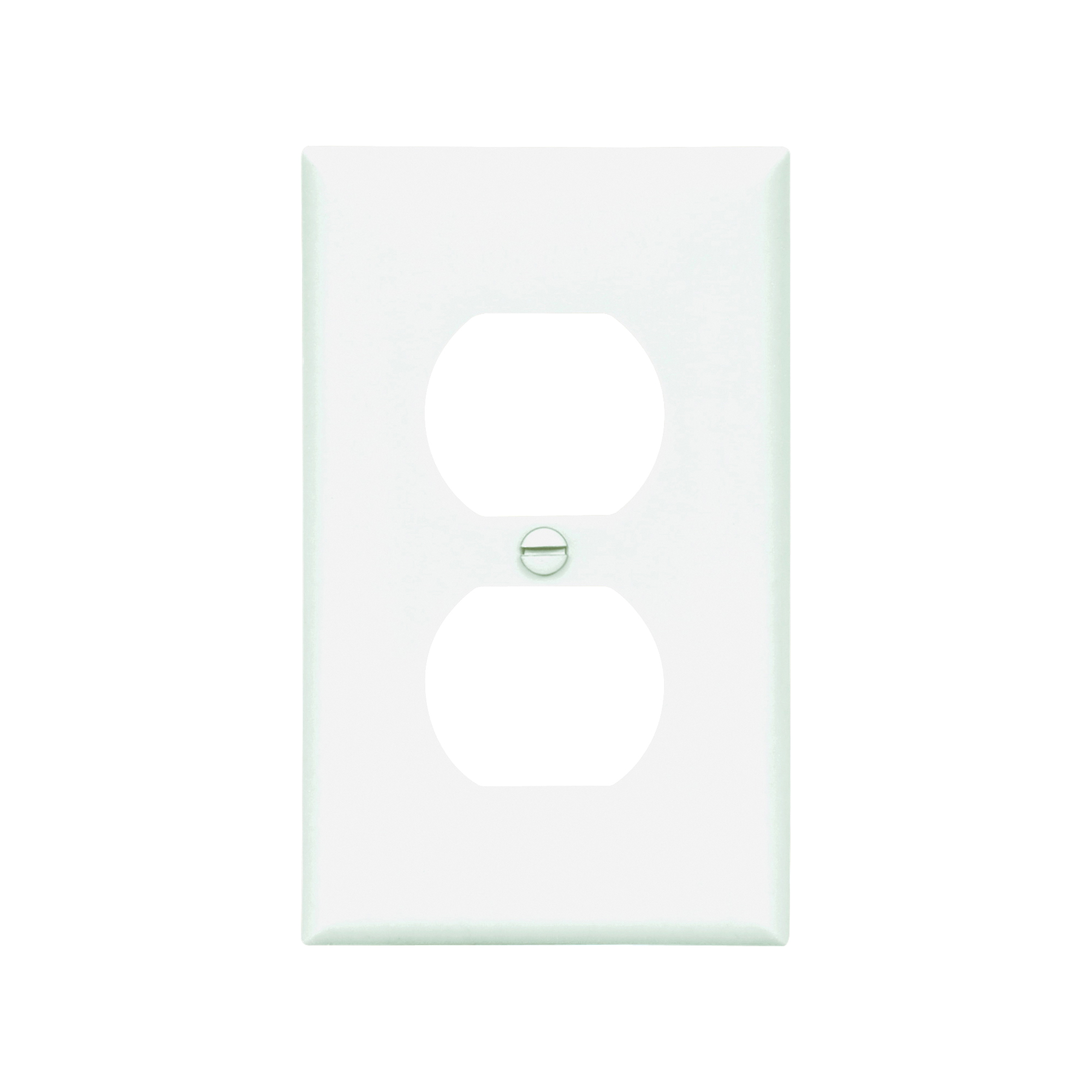 Picture of Eaton Wiring Devices 5132W Wallplate, 4-1/2 in L, 2-3/4 in W, 1-Gang, Nylon, White, High-Gloss, Flush Mounting