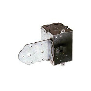 Picture of RACO 529 Switch Box, 1-Gang, 1-Outlet, 3-Knockout, 1/2 in Knockout, Steel, Gray, Galvanized