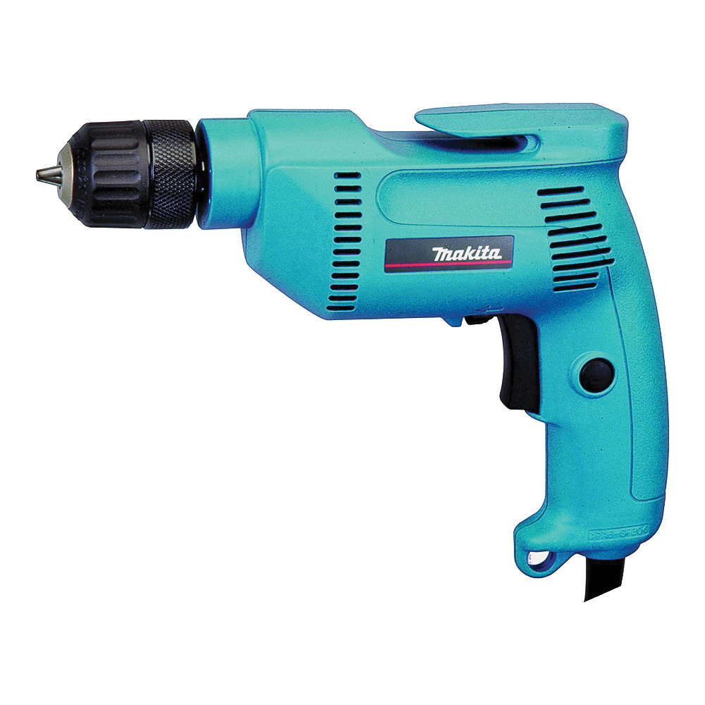 Picture of Makita 6408K Electric Drill, 120 V, 3/8 in Steel, 1 in Wood Drilling, 3/8 in Chuck, Keyless Chuck