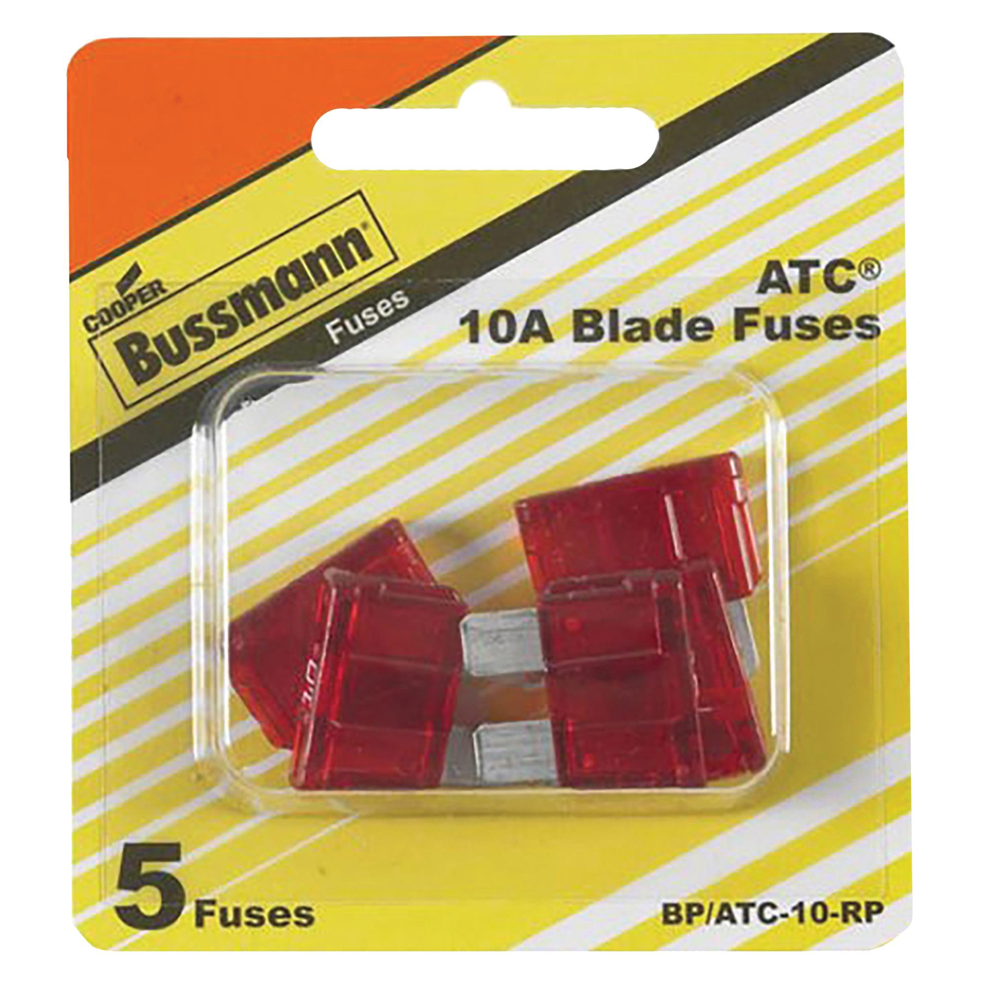 Picture of Bussmann BP/ATC-10-RP Blade Fuse, 32 VDC, 10 A, 1 kA Interrupt
