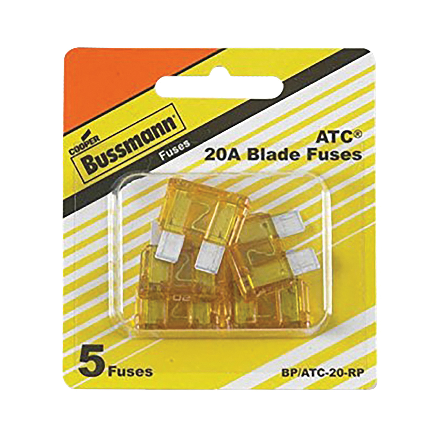 Picture of Bussmann BP/ATC-20-RP Blade Fuse, 32 VDC, 20 A, 1 kA Interrupt