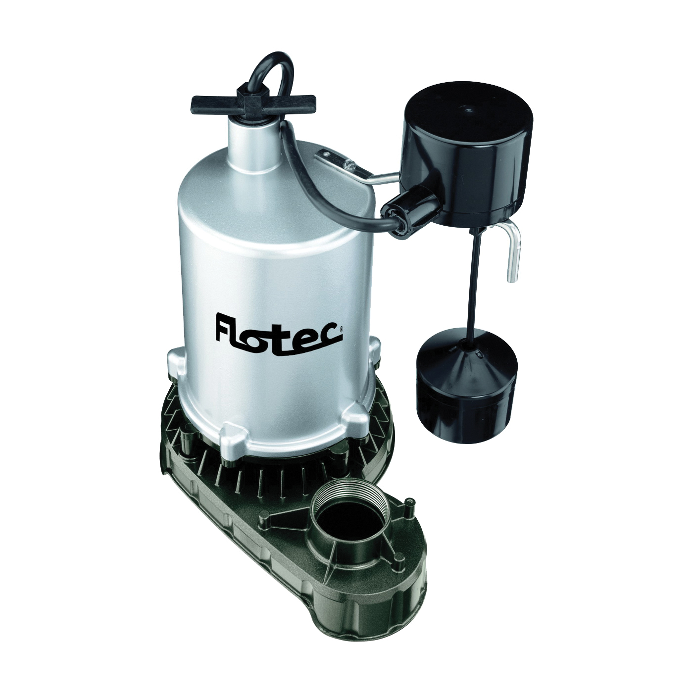 Picture of Flotec FPZT7350 Sump Pump, 7.3 A, 115 V, 0.5 hp, 1-1/2 in Outlet, 23 ft Max Head, 1380 gph, Zinc