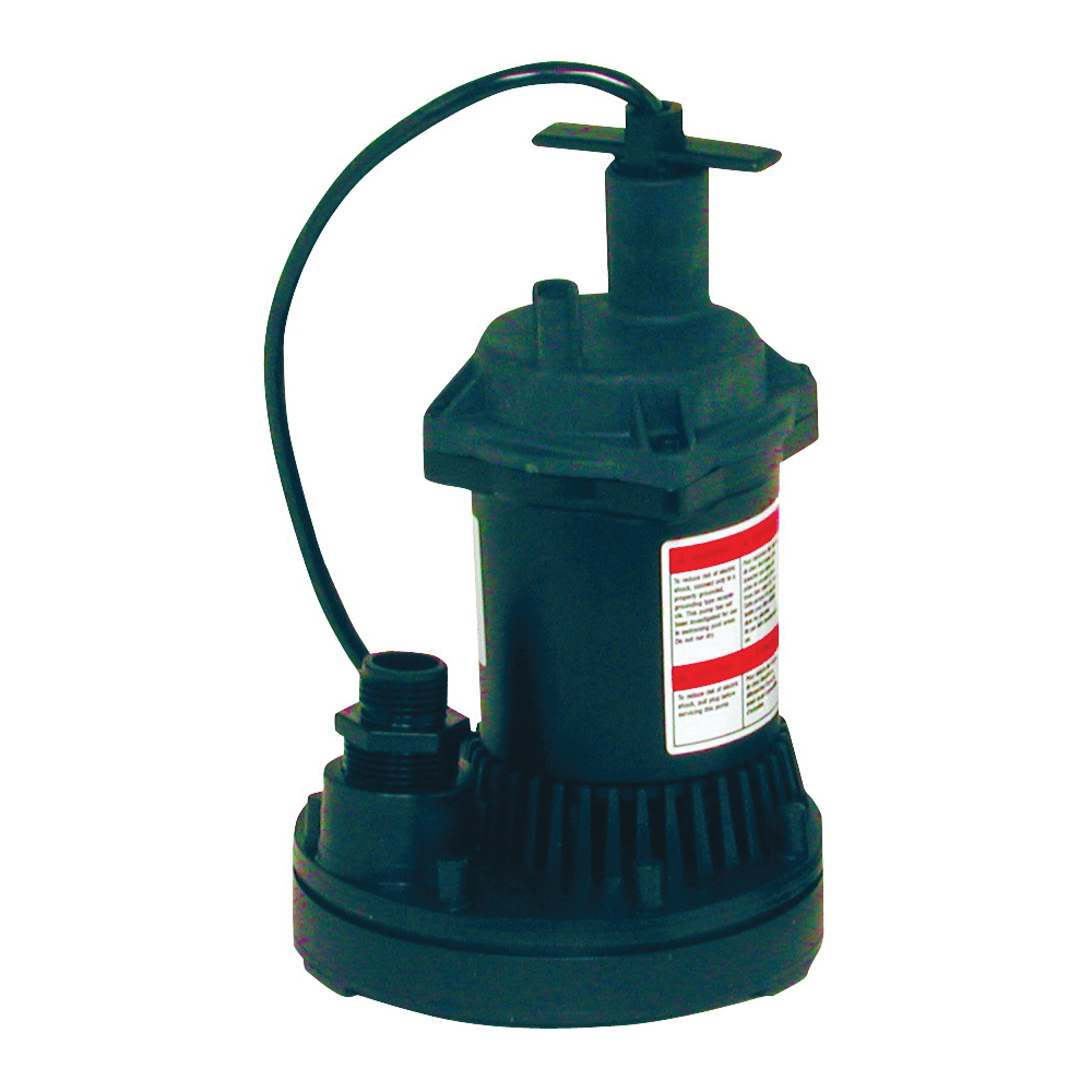 Picture of Flotec FP0S1250X-08 Utility Pump, 115 V, 0.166 hp, 1 in Outlet, 1200 gph, Thermoplastic