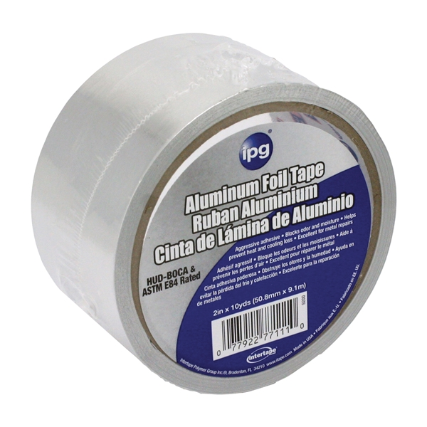 Picture of IPG 9200 Foil Tape, 10 yd L, 2 in W, Aluminum Backing
