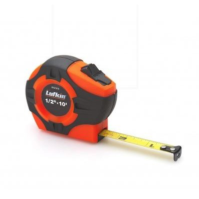 Picture of Crescent Lufkin PHV1433N Tape Measure, 33 ft L Blade, 1 in W Blade, Steel Blade, ABS Case, Orange Case