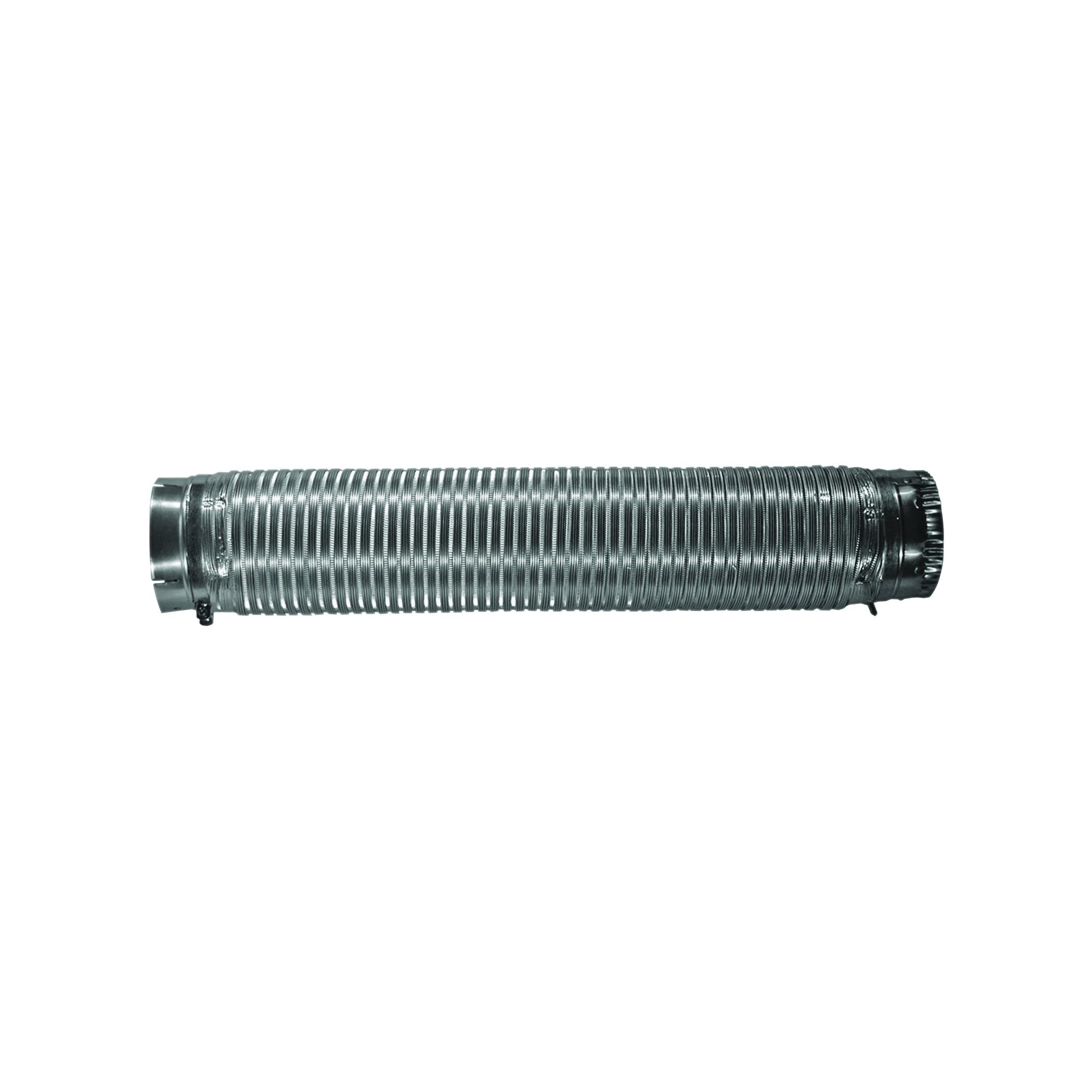 Picture of BUILDER'S BEST 110129 Semi-Rigid Dryer Vent Pipe Snap-Lock, 6 ft L, Aluminum