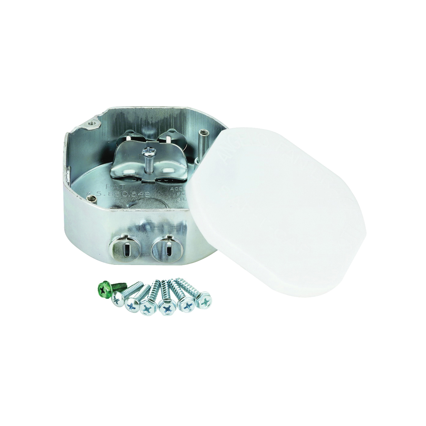 Picture of Westinghouse Saf-T-Box 0105000 Ceiling Fan Box, 3.62 in W, 1-1/2 in D, 3.62 in H, 3-Knockout