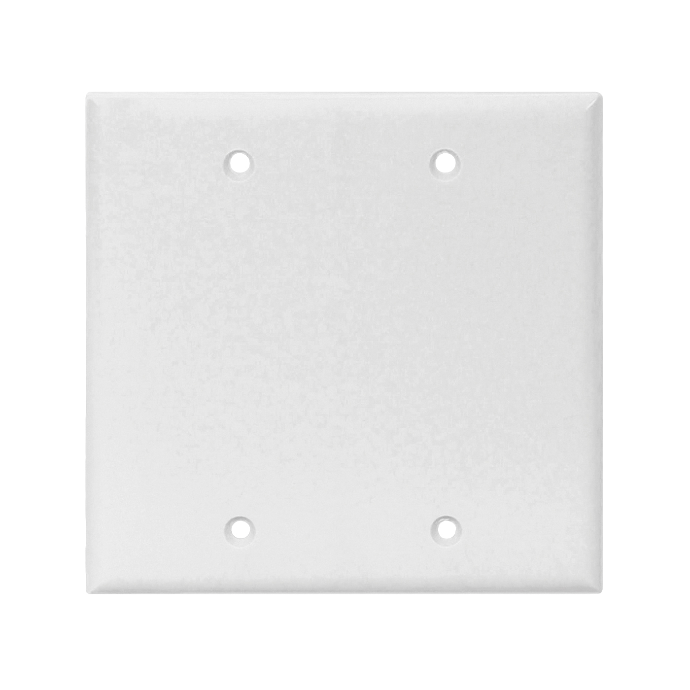 Picture of Eaton Cooper Wiring 2137W-BOX Wallplate, 4-1/2 in L, 4.56 in W, 0.08 in Thick, 2-Gang, Thermoset, White