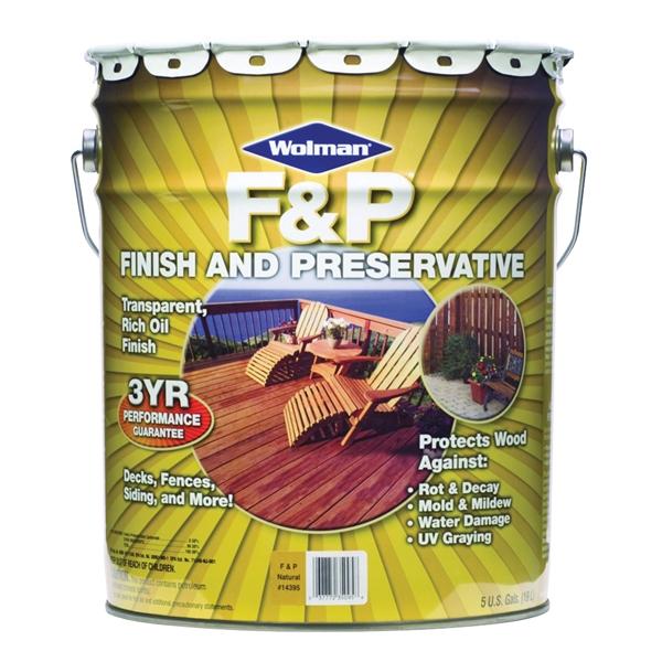 Picture of WOLMAN F&P 14415 Wood Preservative, Cedar, Liquid, 5 gal, Can