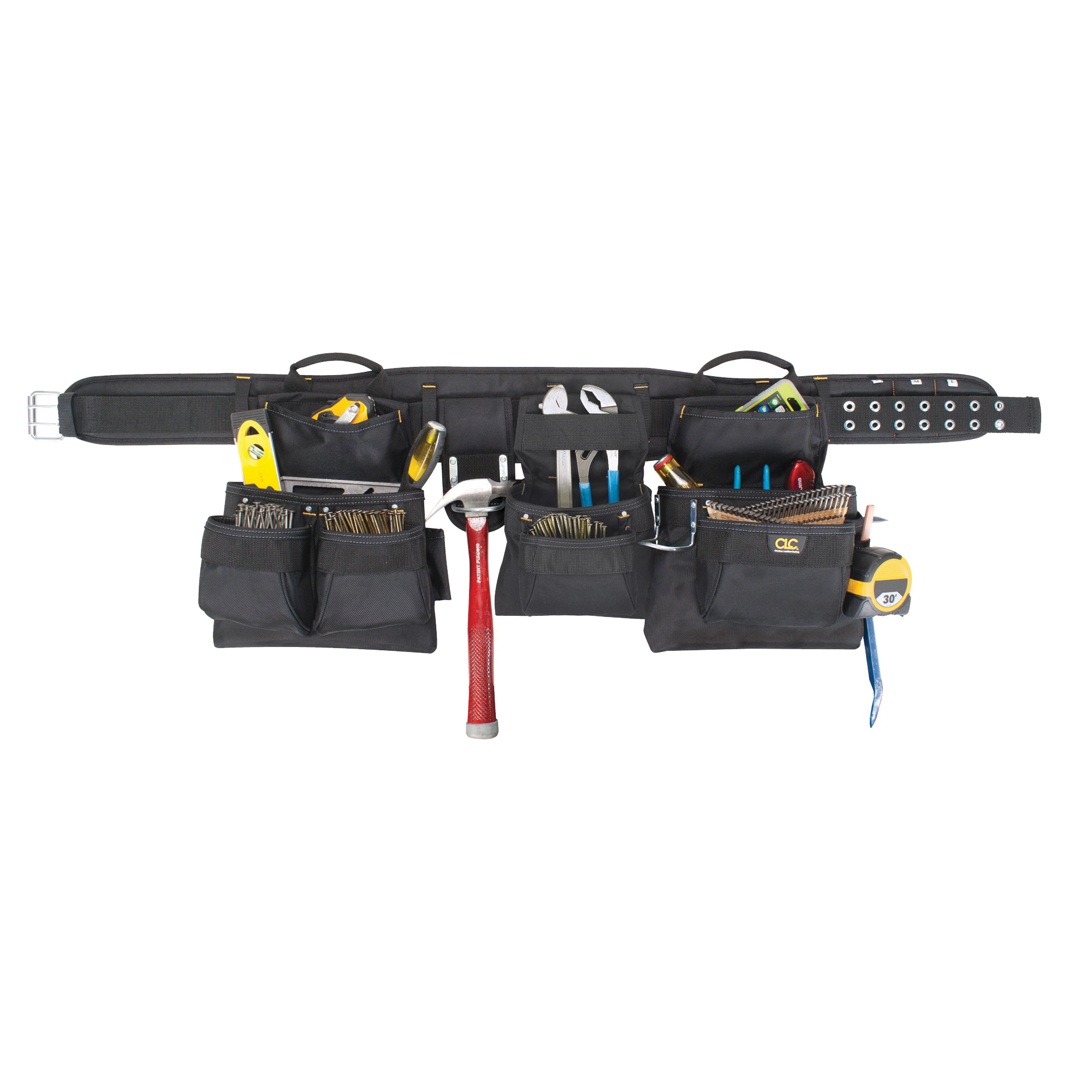 Picture of CLC Tool Works 5605 Tool Belt, 29 to 46 in Waist, Polyester, Black, 18 -Pocket