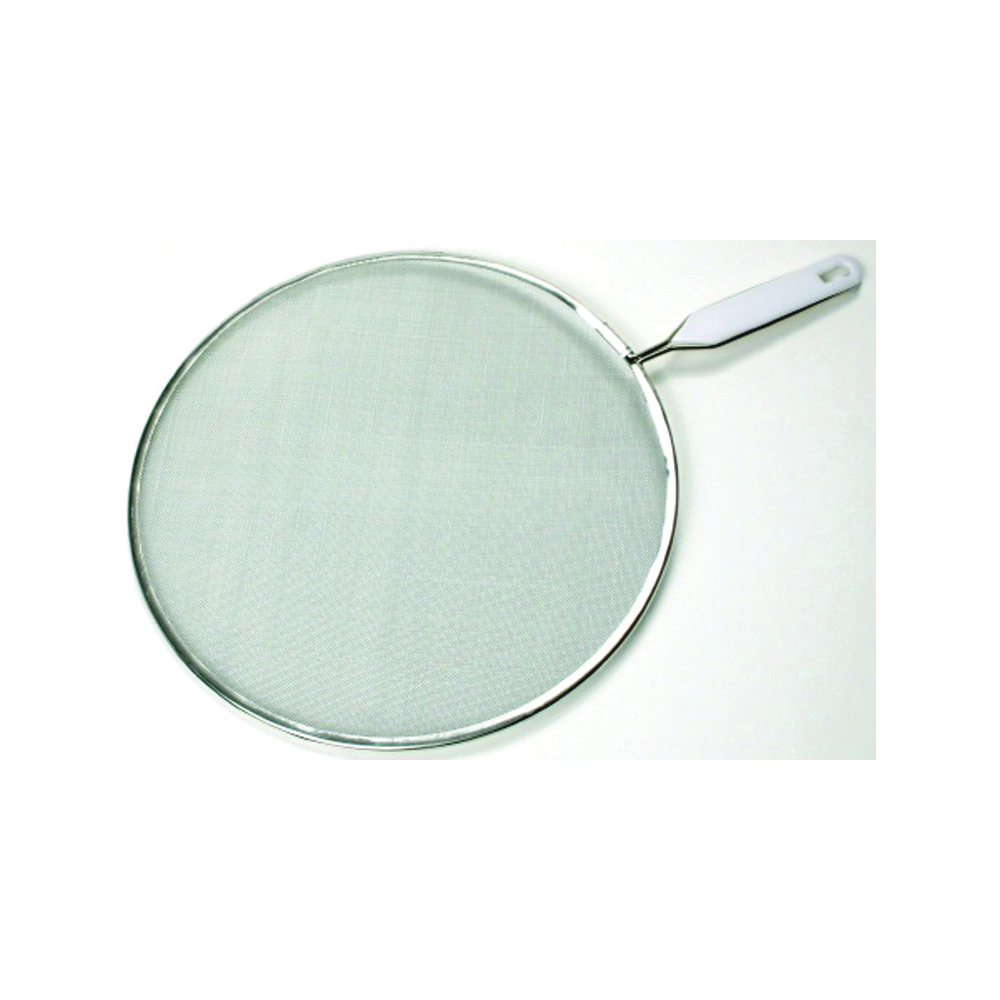 Picture of CHEF CRAFT 21006 Splatter Screen, 10 in Dia, Stainless Steel Screen, Aluminum Frame, White, Dishwasher Safe: Yes