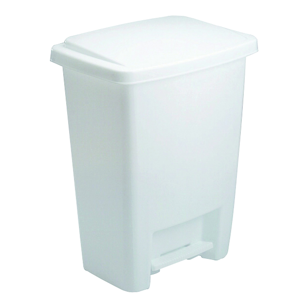 Picture of Rubbermaid FG284187WHT Waste Basket, 33 qt Capacity, Plastic, White, 14 in W, 11 in D, 19 in H