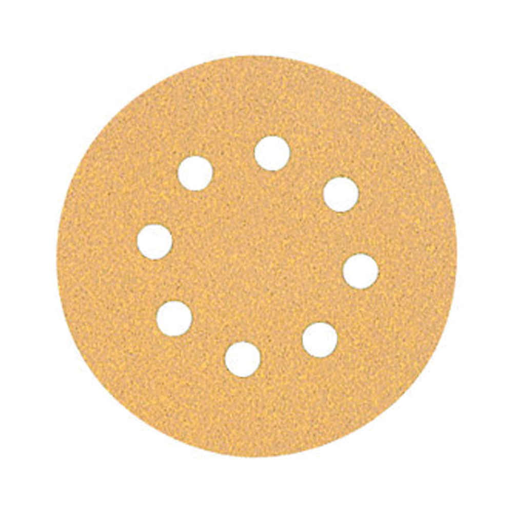 Picture of DeWALT DW4301 Sanding Disc, 5 in Dia, Coated, 80 Grit, Aluminum Oxide Abrasive, Paper Backing, 8-Hole