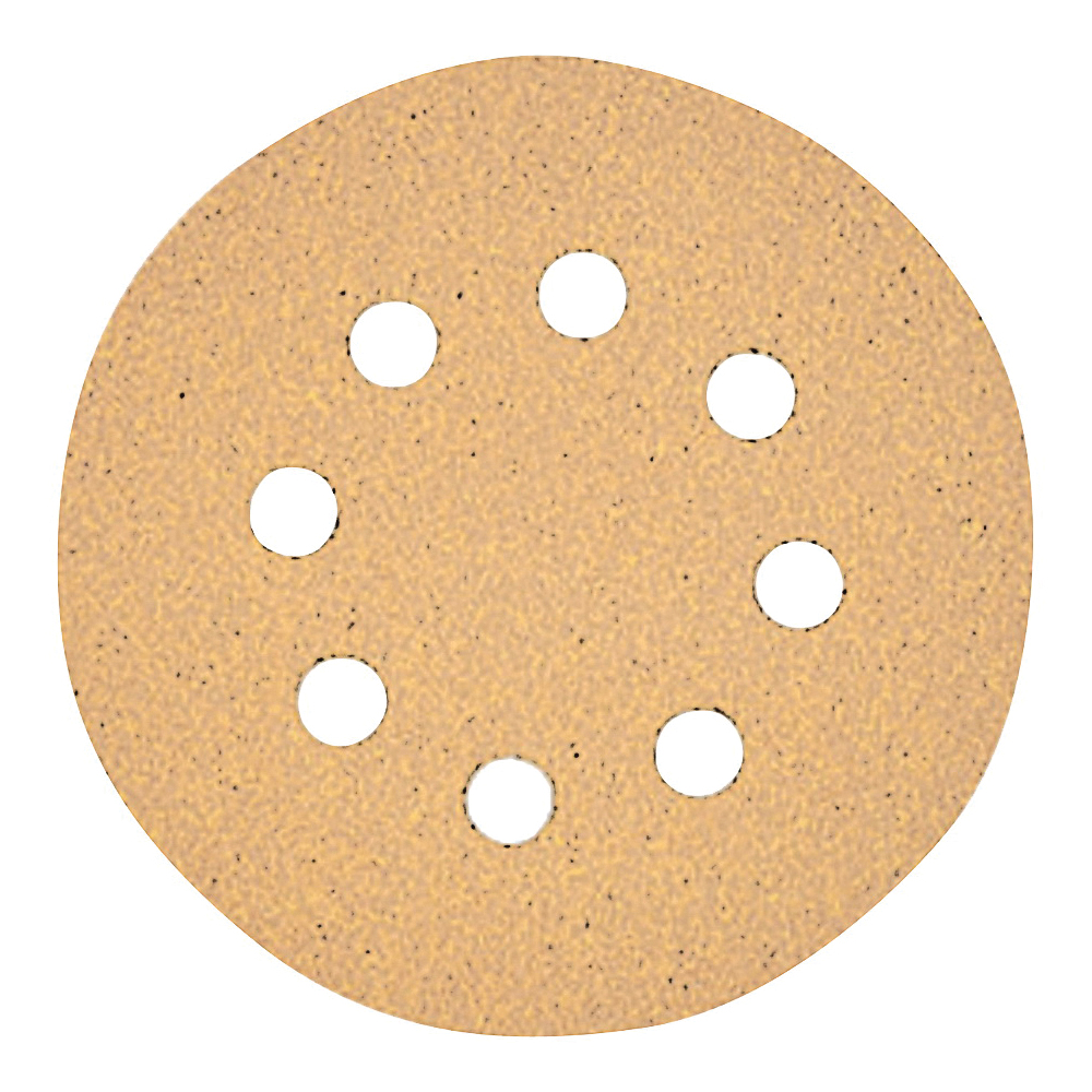 Picture of DeWALT DW4303 Sanding Disc, 5 in Dia, Coated, 120 Grit, Aluminum Oxide Abrasive, Paper Backing, 8-Hole