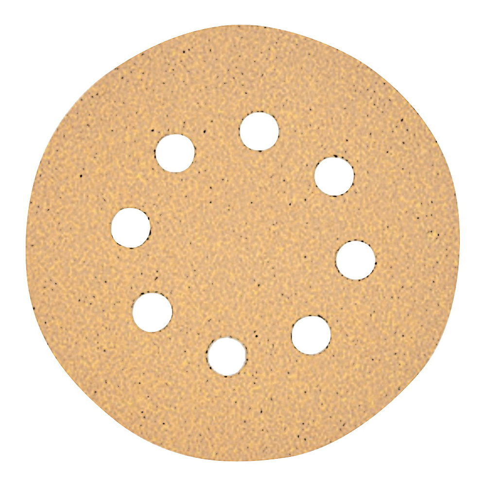 Picture of DeWALT DW4306 Sanding Disc, 5 in Dia, Coated, 220 Grit, Aluminum Oxide Abrasive, Paper Backing, 8-Hole