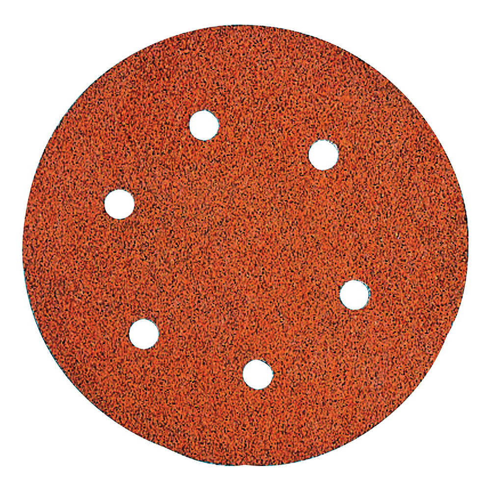 Picture of DeWALT DW4331 Sanding Disc, 6 in Dia, Coated, 80 Grit, Aluminum Oxide Abrasive, Paper Backing, 6-Hole