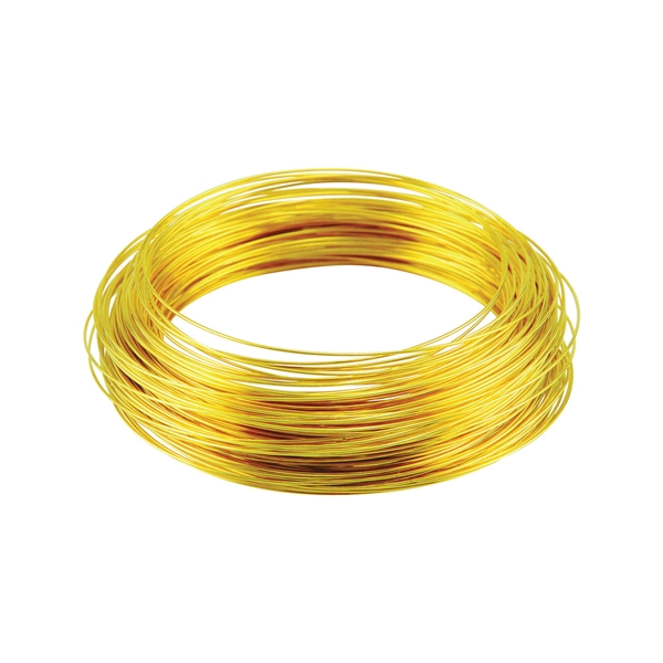 Picture of HILLMAN 50150 Utility Wire, 25 ft L, 16 Gauge, Brass