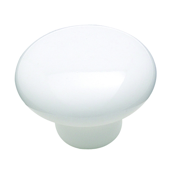 Picture of Amerock Allison Value 232WHT Cabinet Knob, 15/16 in Projection, Ceramic