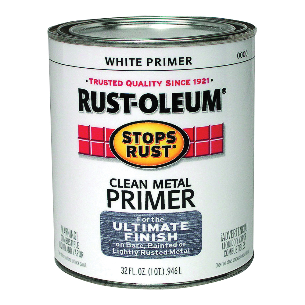 Picture of RUST-OLEUM STOPS RUST 7780502 Clean Metal Primer, Flat, White, 1 qt