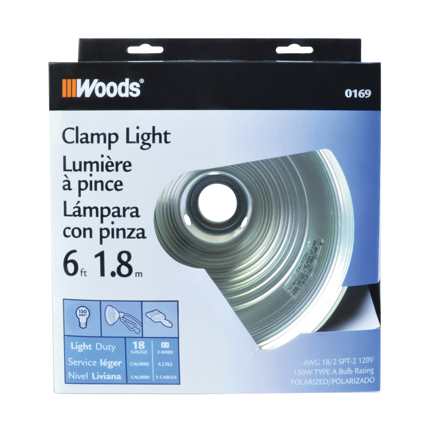 Picture of CCI 0169 Clamp Light, Incandescent Lamp