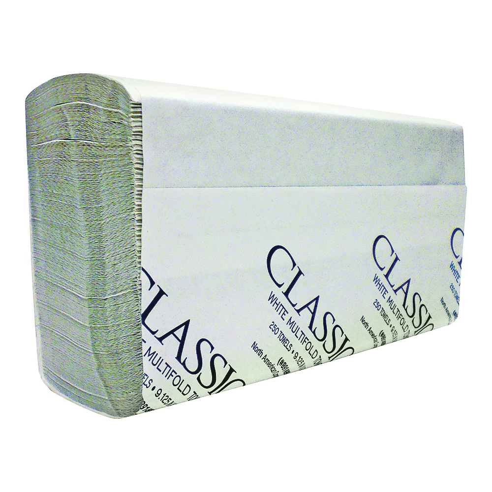 Picture of NORTH AMERICAN PAPER 891499 Paper Towel, 9-1/2 in L, 9-1/4 in W, 1 -Ply