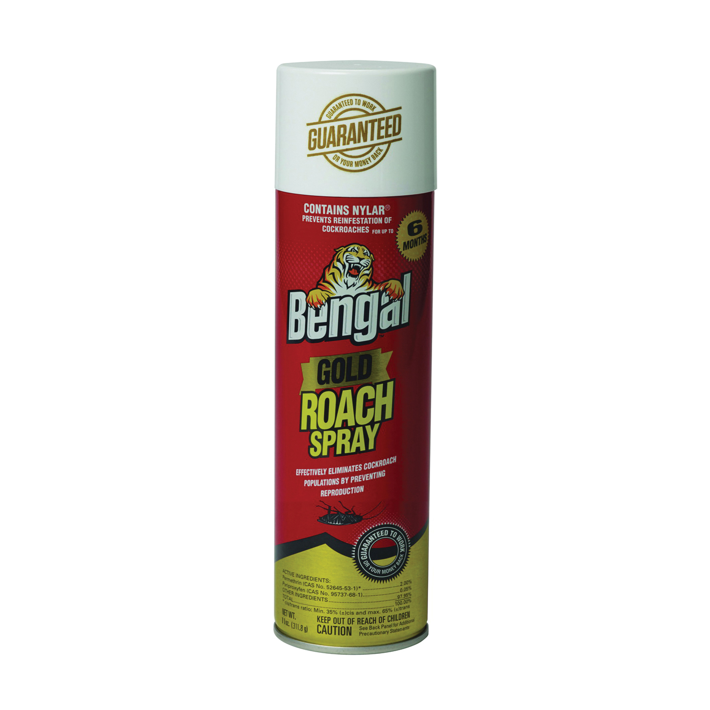 Picture of Bengal 92464 Roach Spray, Liquid, Spray Application, 11 oz Package, Aerosol Can
