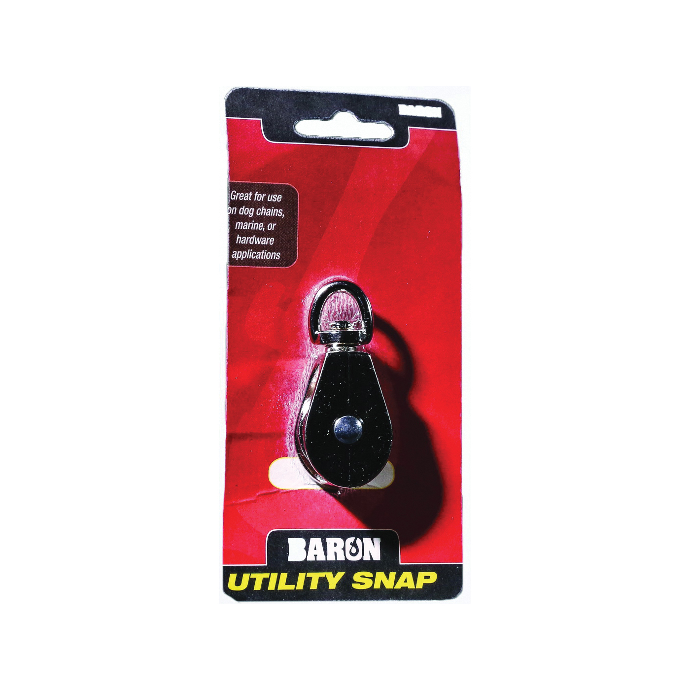 Picture of BARON C-0713ZD-1/2 Single Rope Pulley, 5/32 in Rope, 8 lb Working Load, 1/2 in Sheave, Nickel