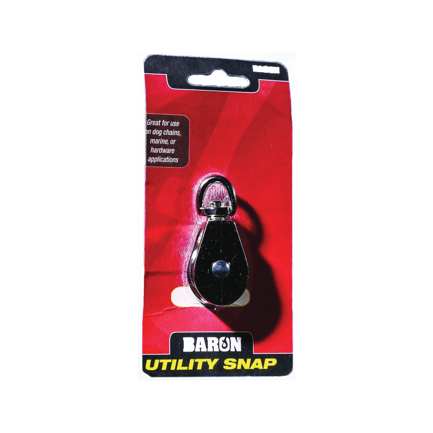 Picture of BARON C-0173ZD-3/4 Single Rope Pulley, 5/32 in Rope, 11.5 lb Working Load, 3/4 in Sheave, Nickel